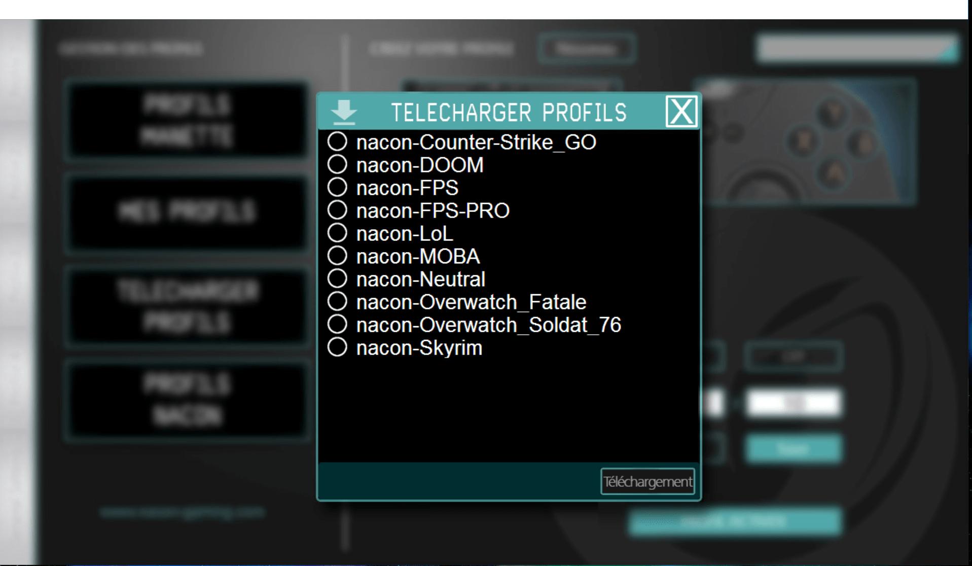 Telecharger profils