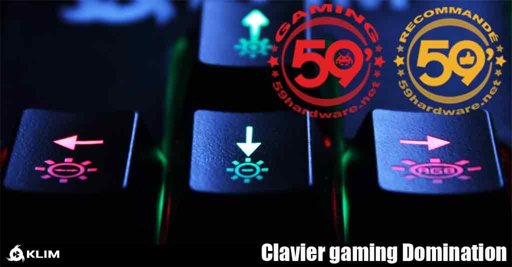 test Clavier KLIM Domination
