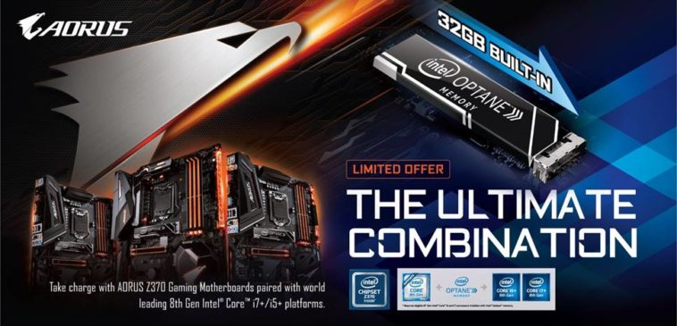 AORUS Z370 Intel Optane Memory 32 Go