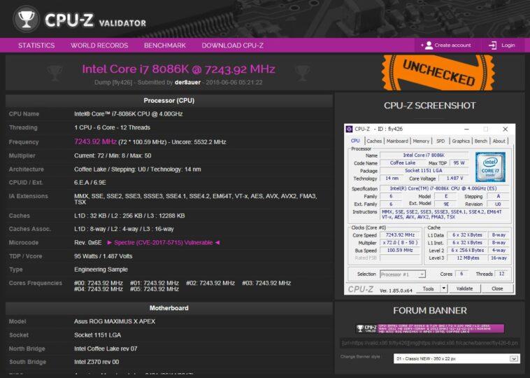 Core i7 8086K oc