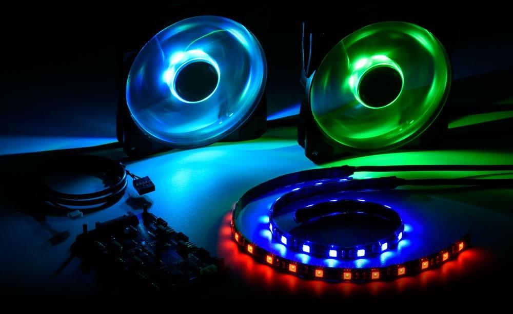 Pacelight LED fans stripes