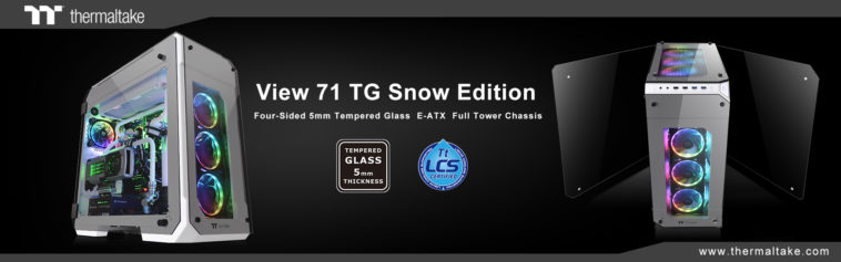 Thermaltake New View 71 Tempered Glass Snow Edition Full Tower Chassis