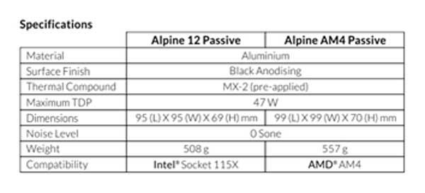 Arctic Alpine 12 passif 1