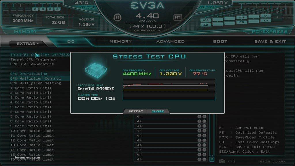 EVGA Bios X299 1
