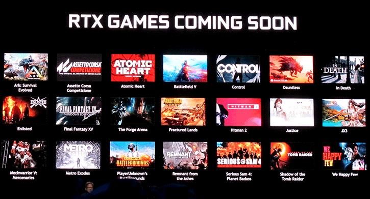 Nvidia a répertorié 21 jeux optimisés RTX