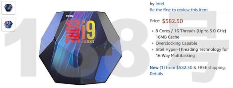 Intel 9900K boite