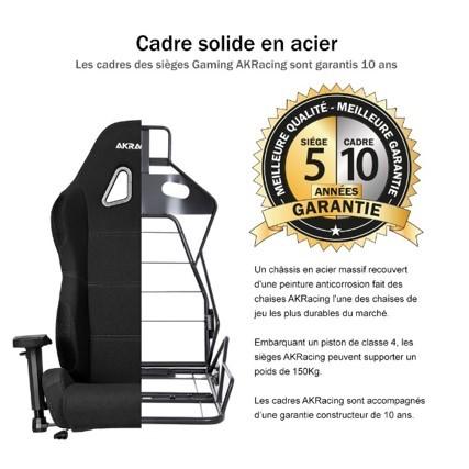 cadre acier chaise akracing pro