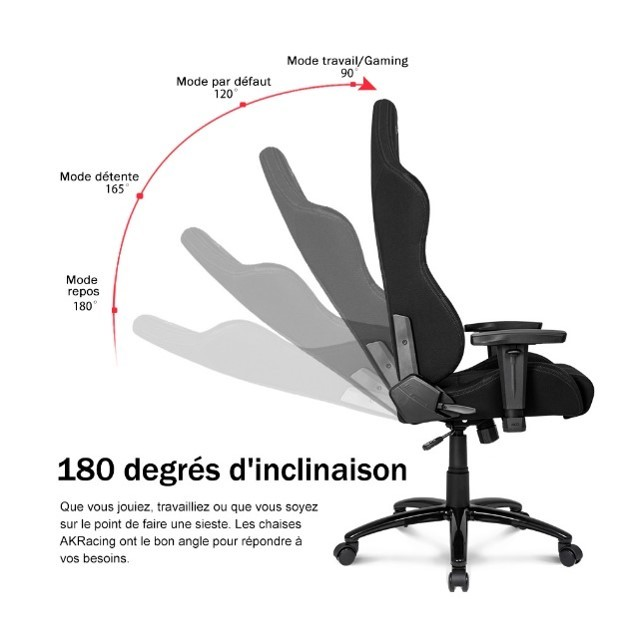 inclinaison chaise akracing pro