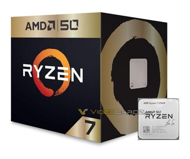 AMD Ryzen 7 2700X 50th Anniversaire 25 04