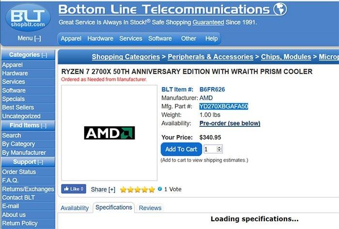 AMD Ryzen 2700X anniversary
