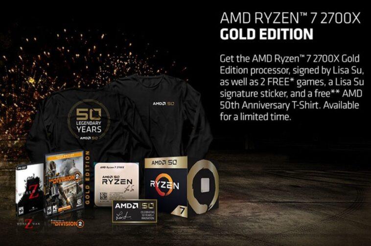 AMD Ryzen 7 Gold Edition 2700X
