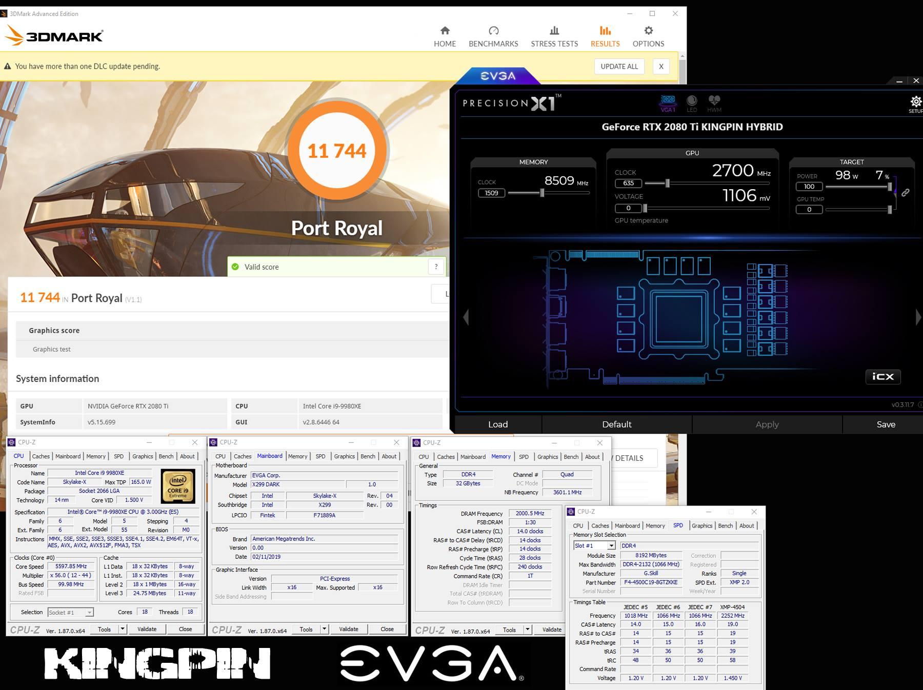 EVGA GeForce RTX 2080 Ti KINGPIN Hybrid1