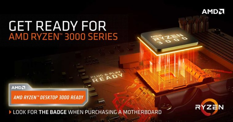 AMD ryzen 3000 series processor compatible x570 chipset
