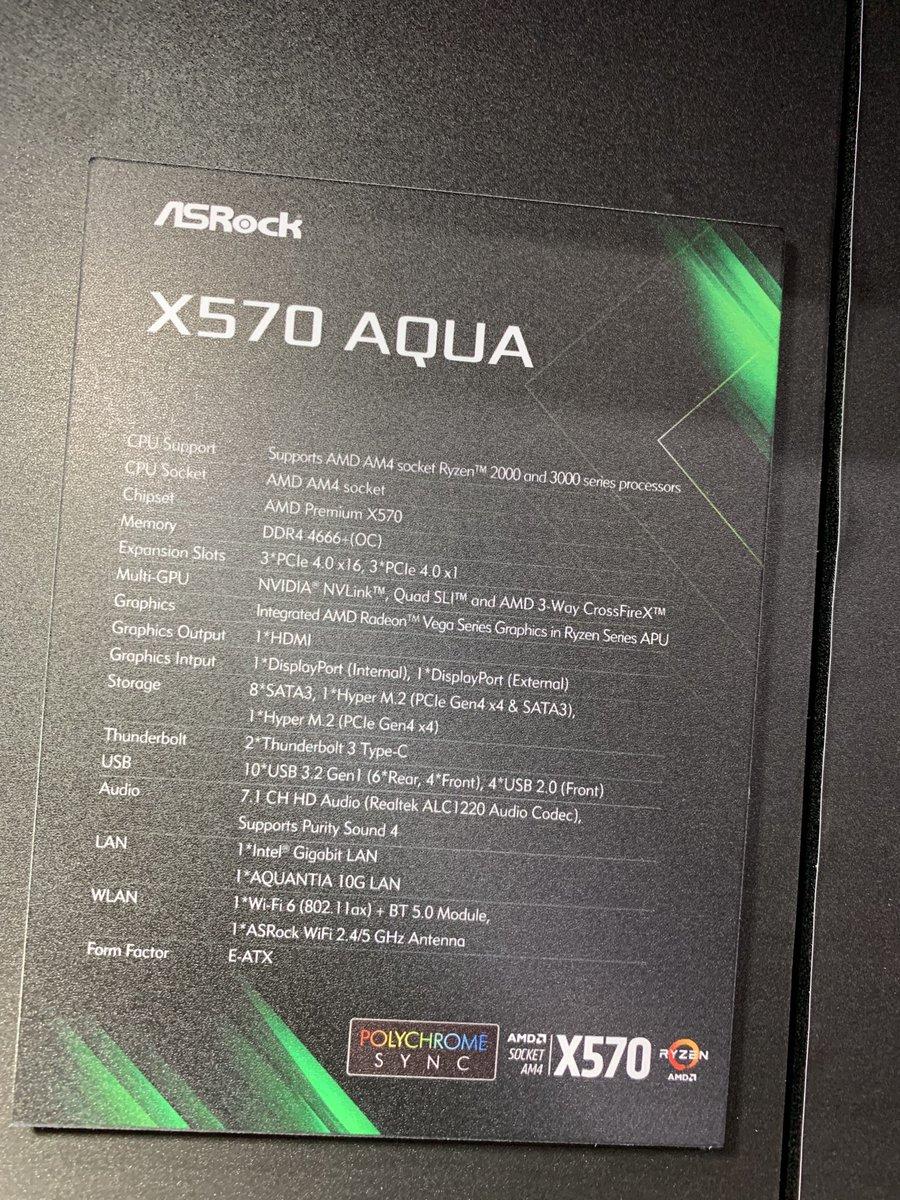 ASROCK X570 Aqua 2