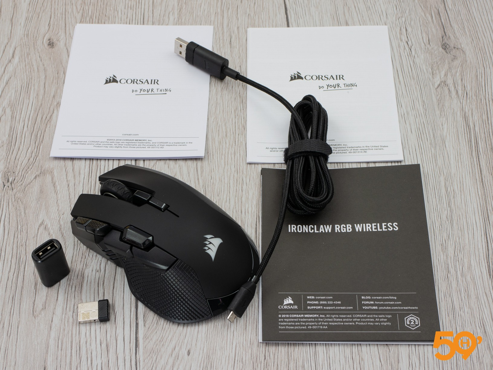 unboxing souris Corsair IronClaw RGB Wireless