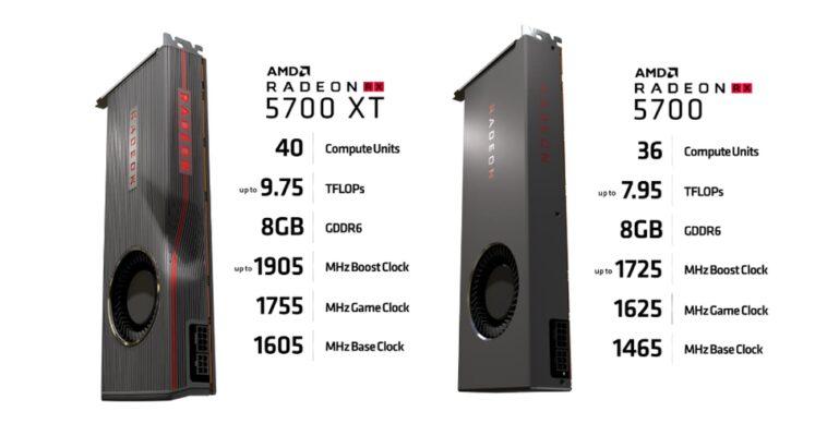 RX5700 et XT