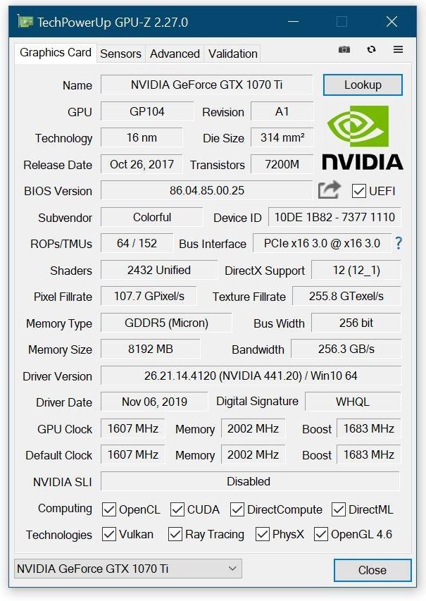 GPU Z version 2.27.0