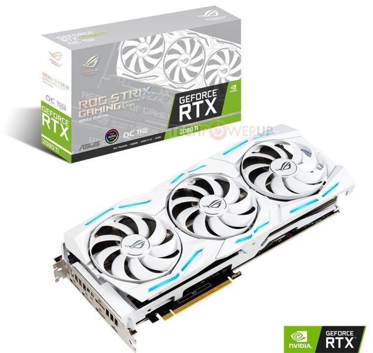ROG Strix RTX 2080 Ti en version blanche