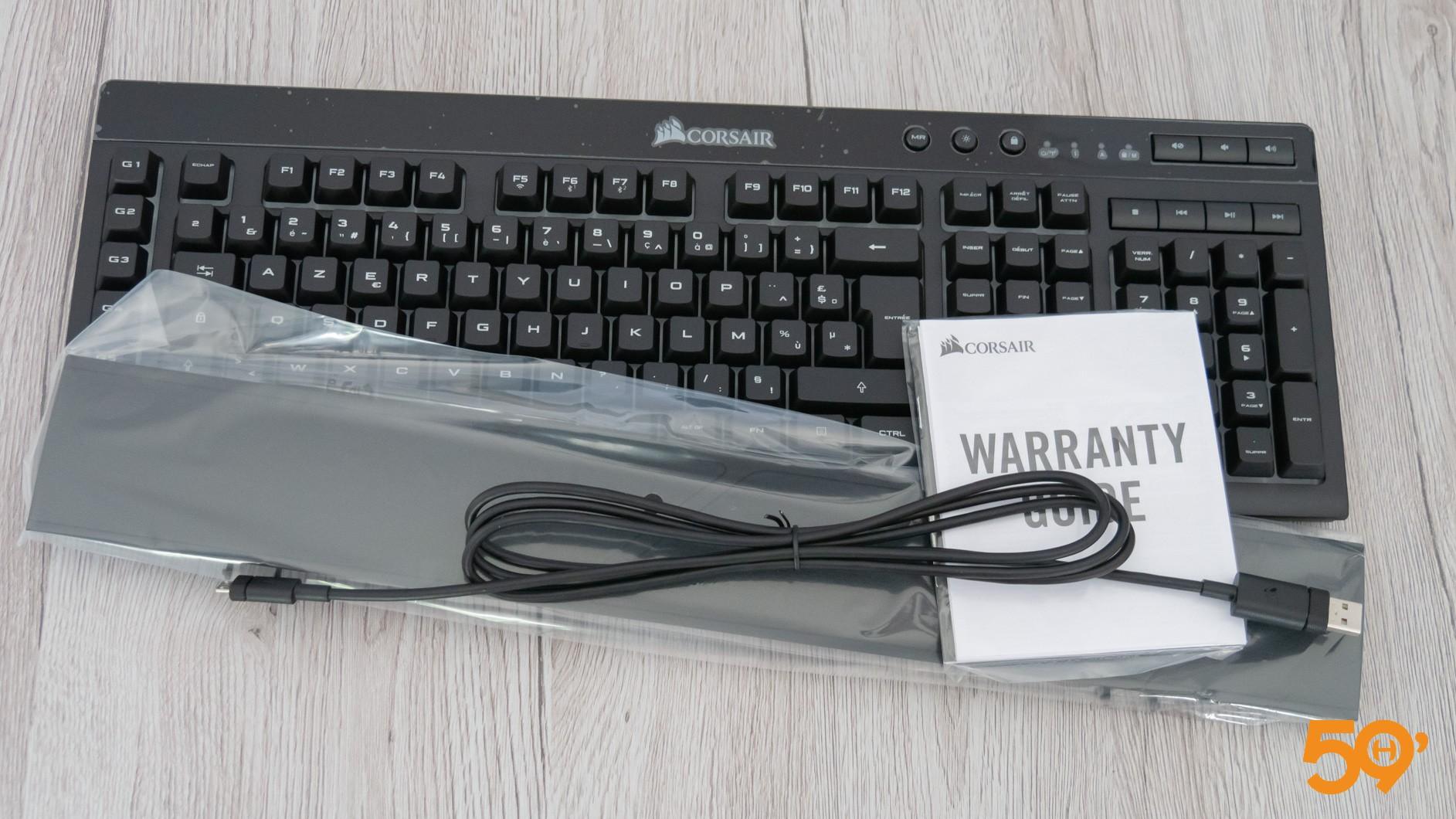 unboxing clavier corsair k57