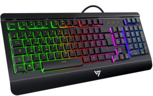VicTsing Clavier Gamer Filaire Ultra Mince