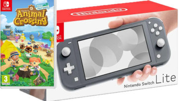 nintendo switch lite grise animal crossing
