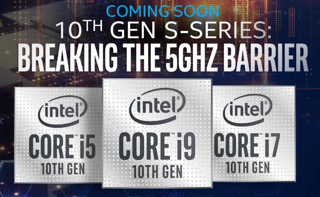 nouveau processeur intel core 10eme generation