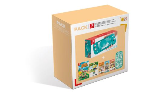 pack animal crossing switch lite turquoise
