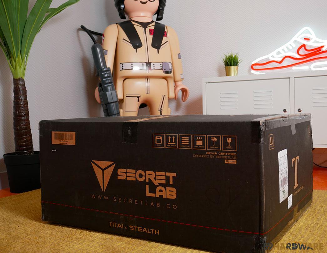 unboxing chaise secretlab titan
