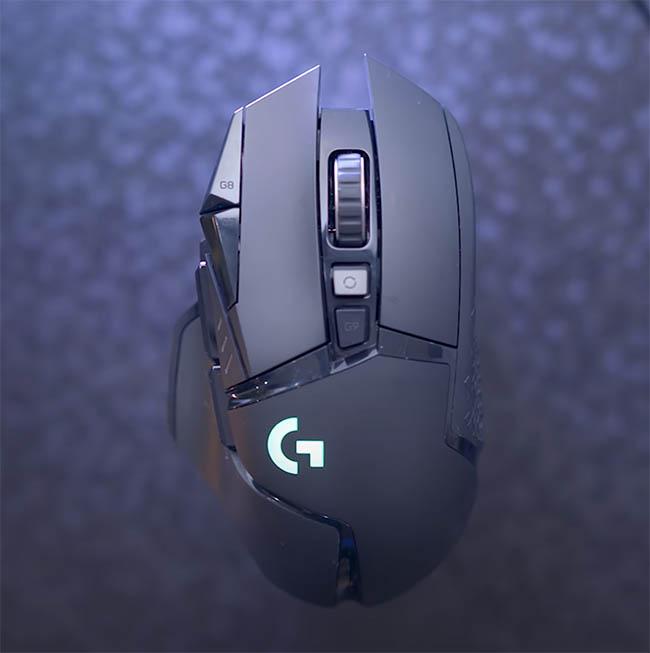 Logitech G502 Lightspeed de haut