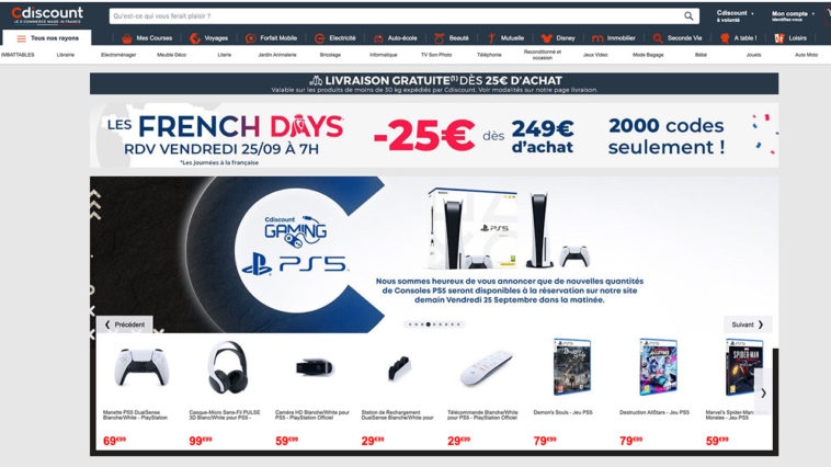 Code promo Cdiscount FrenchDays PS5 Precommande