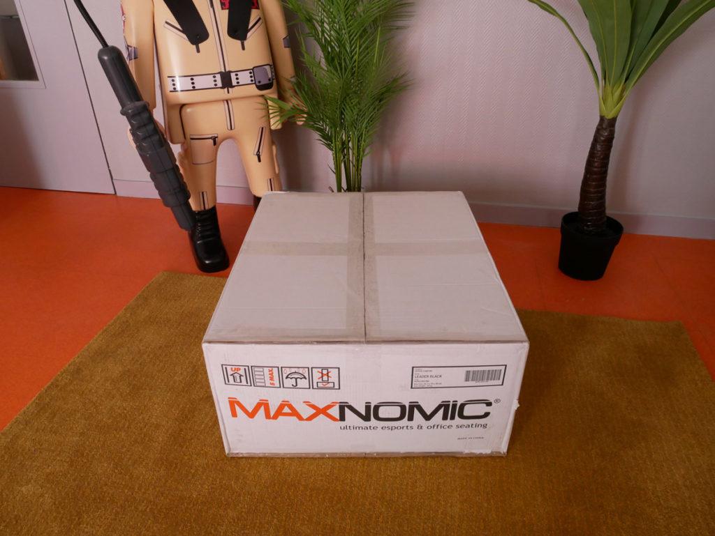 boîte de livraison du maxnomic leader black