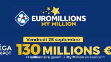 Mega jackpot Euromillions 25 septembre 2020