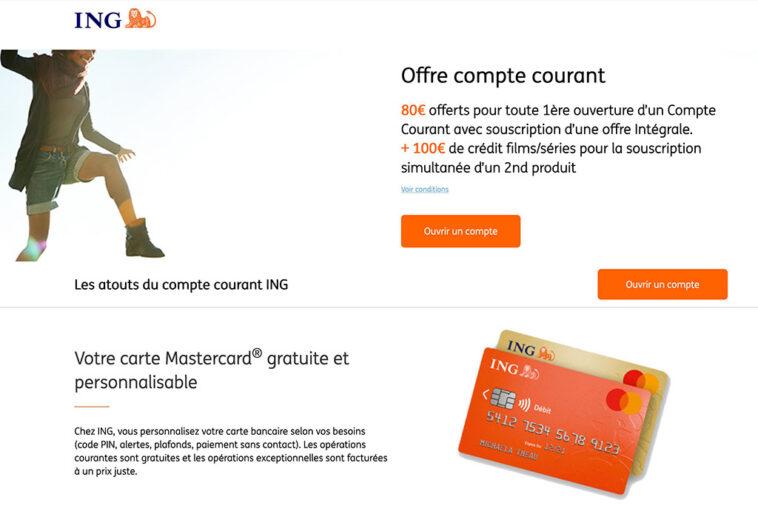 Promo Banque en ligne Bonus ING