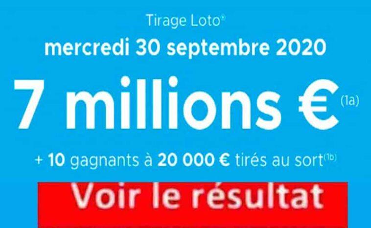 Resultat LOTO 30 Septembre 2020 joker+ et codes loto gagnant tirage FDJ