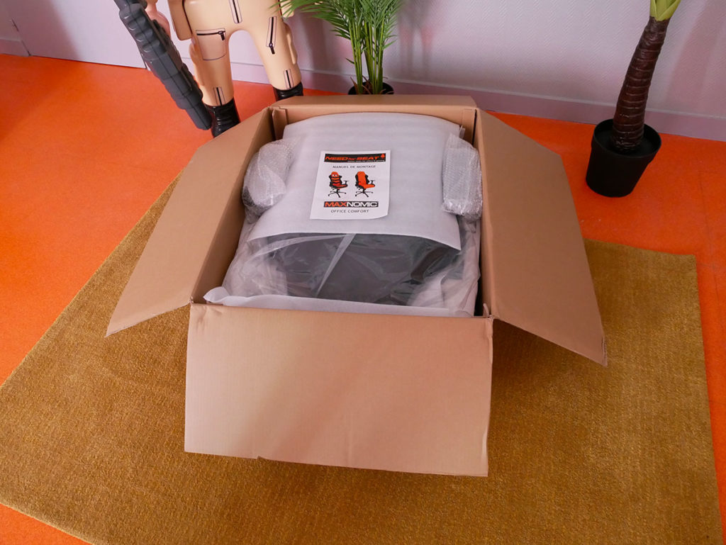 unboxing chaise gamer maxnomic