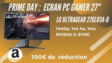 Amazon prime day LG ultragear 27GL83A-B promo