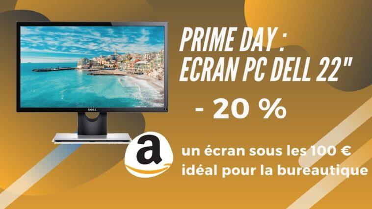 amazon prime day ecran pc dell 22 promo