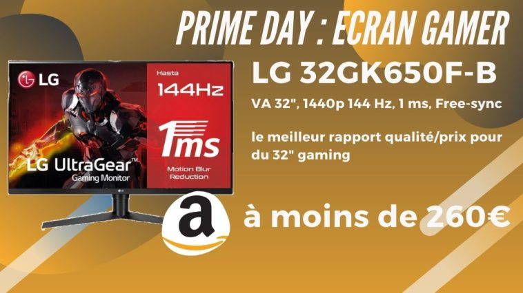 amazon prime day lg-32gk650f-b promo