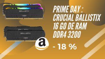 amazon prime day ram ddr4 ballistix promo
