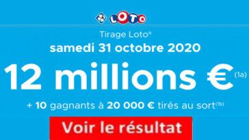 Resultat LOTO 31 octobre 2020 joker+ et codes loto gagnant
