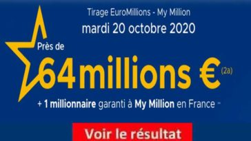 Resultat Euromillion 20 Octobre 2020 tirage fdj