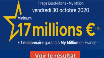 Resultat Euromillions 30 octobre 2020