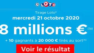 Resultat LOTO 21 Octobre 2020 joker+ et codes loto gagnant