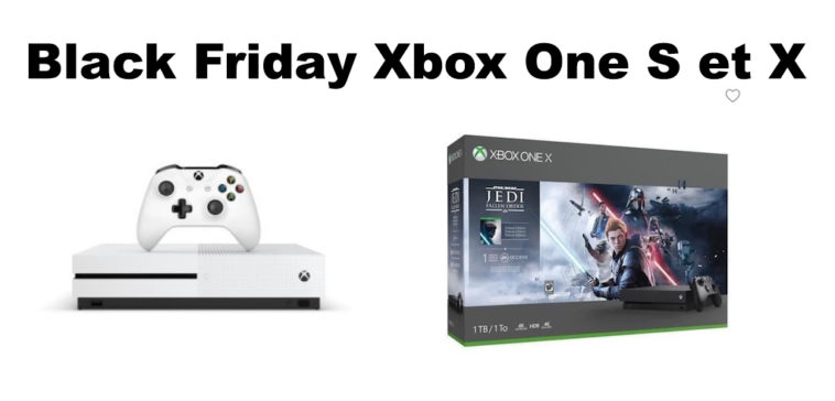 Black Friday Xbox One S et X promo
