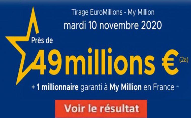 Resultat Euromillions 10 Novembre 2020