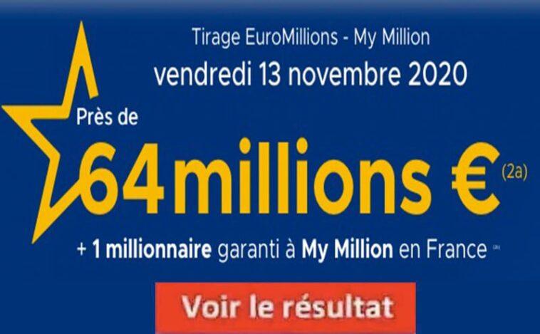 Resultat Euromillion FDJ 13 Novembre 2020