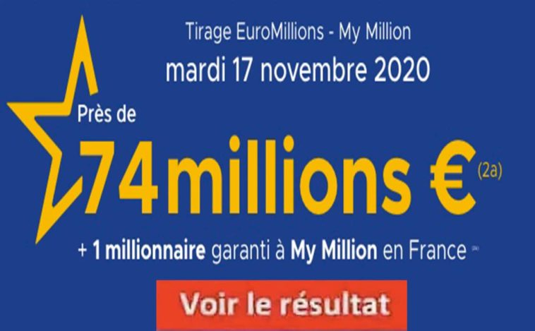 Resultat Euromillion FDJ 17 Novembre 2020