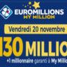 Resultat Mega jackpot Euromillion 19 Novembre 2020