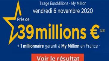 Resultat Euromillions 6 Novembre 2020