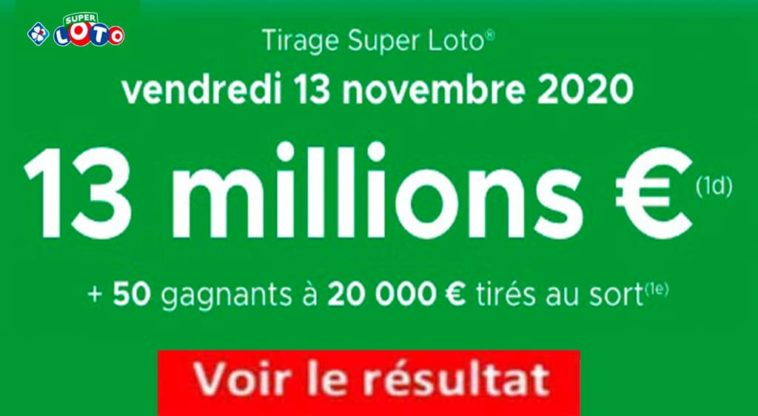Resultat Super LOTO 13 Novembre 2020 joker+ et codes loto gagnant
